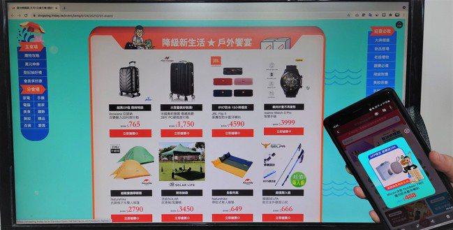 解封商機發酵! 遠傳friDay購物旅遊、機能服飾單日成長逾2倍。圖/業者提供