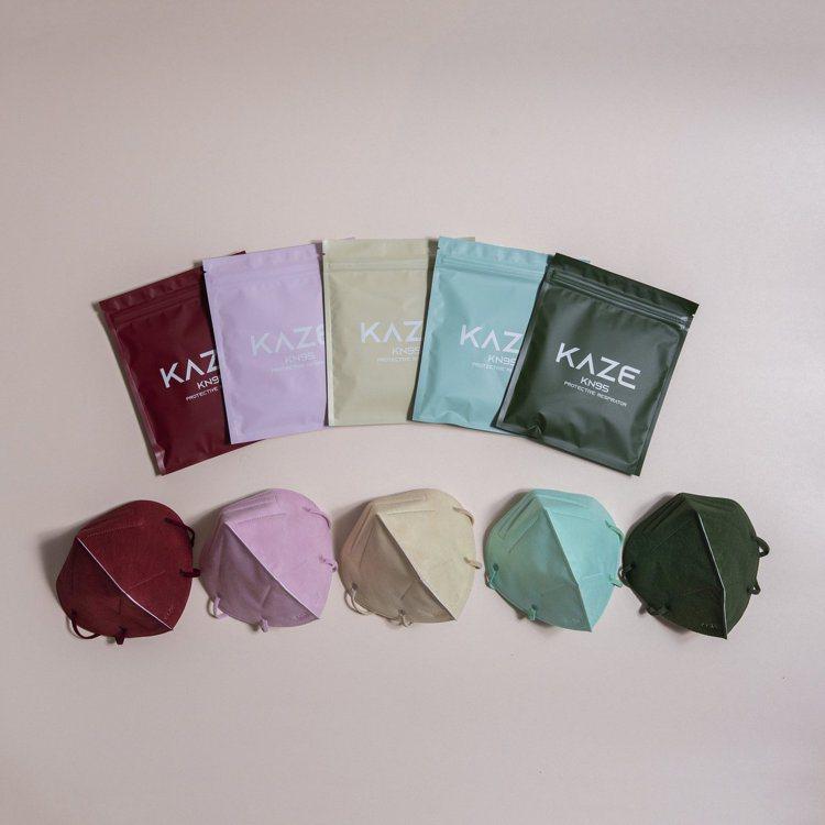 KAZE 時尚玩色立體口罩經典造型Original全系列共精選6款,每款5色,1...