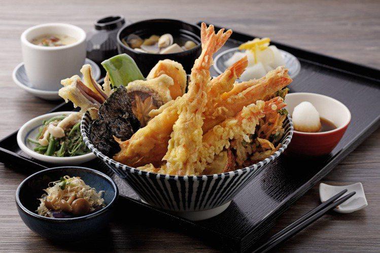 欣葉日本料理推出炸蝦天丼套餐,每份500元。圖/欣葉提供