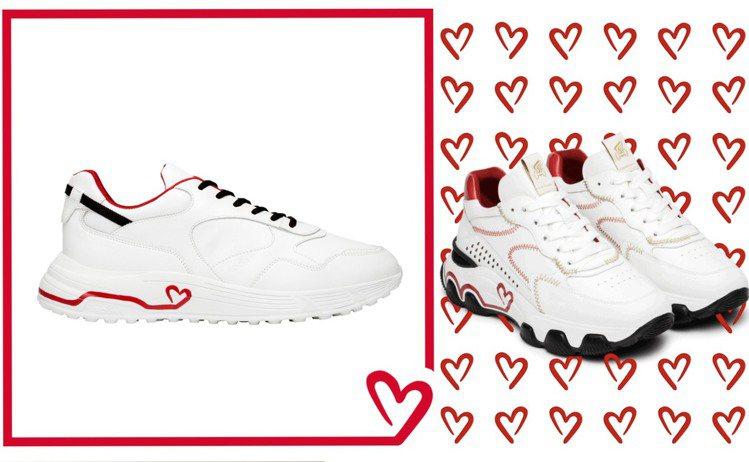 HOGAN推出七夕限定系列男女鞋款。圖/迪生提供
