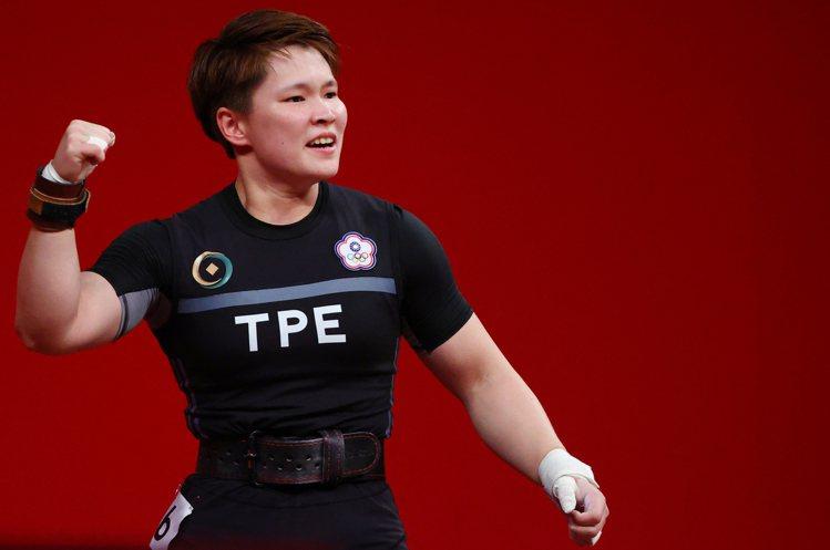 舉重好手陳玟卉今天在東京奧運舉重女子64公斤級A組出賽。 路透