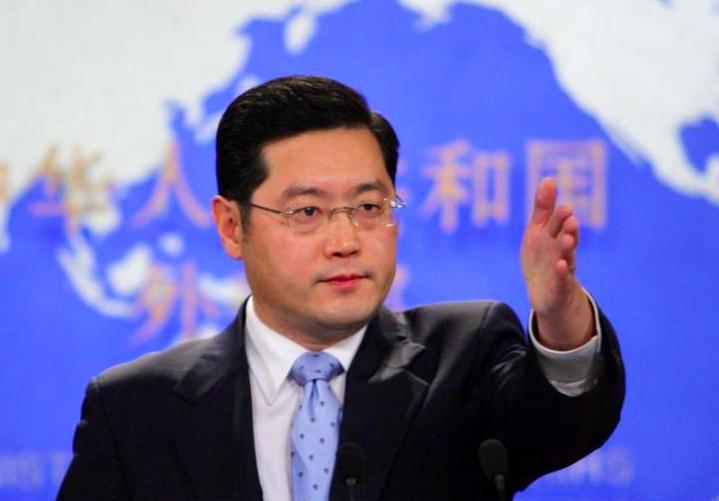 秦剛曾兩度出任外交部發言人。 (中新社)