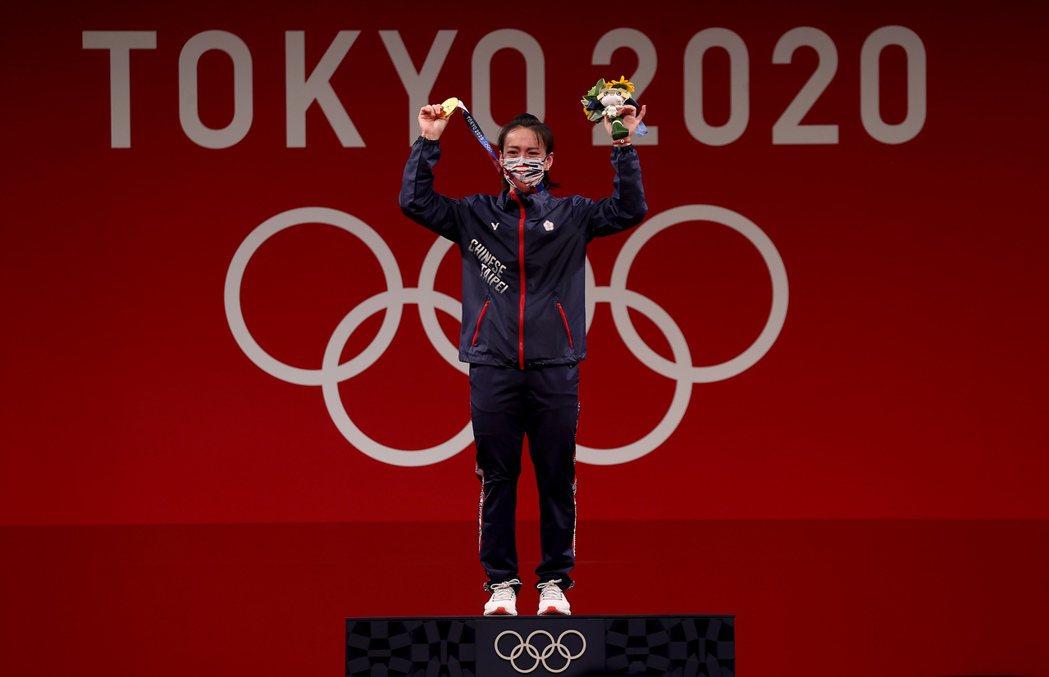 郭婞淳如願摘下女子59公斤級金牌。特派記者余承翰/攝影