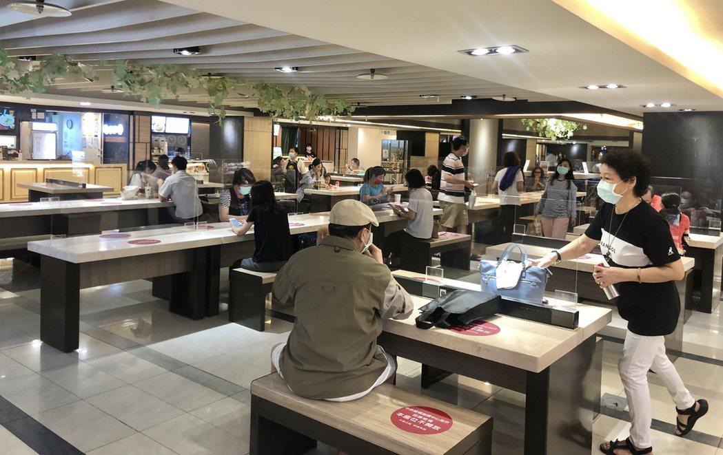 中友百貨自上周宣布疫情警戒即將降級後,周末來店人潮明顯增加。中友百貨提供