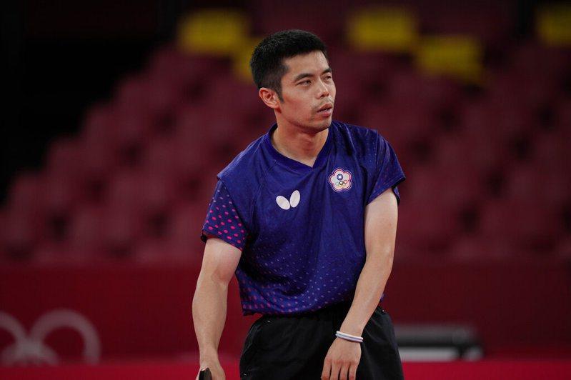 桌球男單失利後,莊智淵接下來將備戰男團賽事。 美聯社