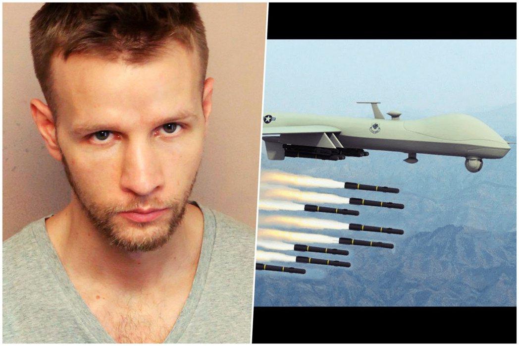 Daniel Hale本人。 圖/美聯社、美國空軍