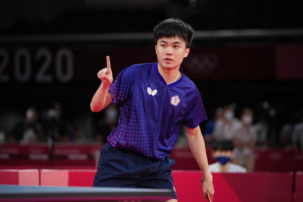 19歲的桌球小將林昀儒在東京奧運順利晉級四強。 美聯社