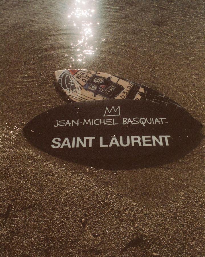 SAINT LAURENT推出藝術家巴斯奇亞系列。圖/SAINT LAURENT...
