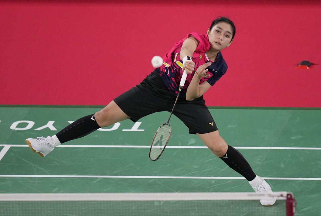 此次出征奧運,參與女子羽球單打的Thet Htar Thuzar。 圖/美聯社