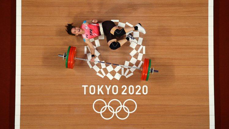 在東京奧運賽場上,郭婞淳也穿上專業運動品牌UNDER ARMOUR提供的裝備。圖...
