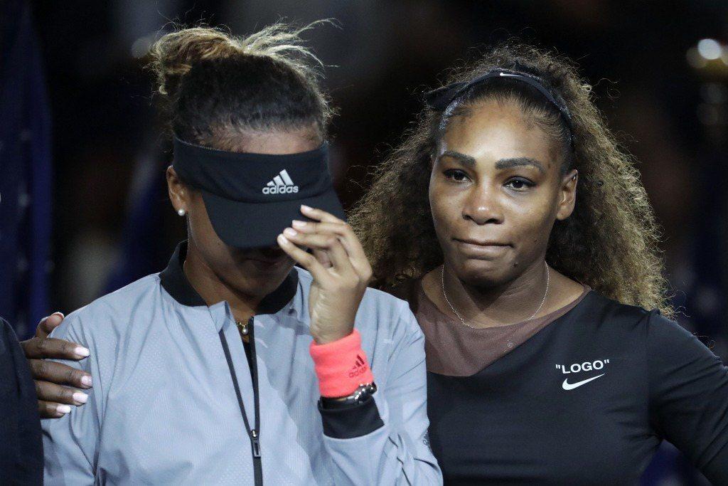 大坂直美擊敗美國網球運動員小威廉絲,迎接她的卻是滿座的噓聲。 圖/美聯社