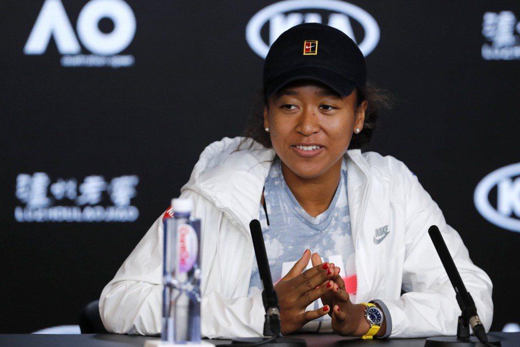 大坂直美出席2020年的澳網公開賽記者會。 圖/美聯社