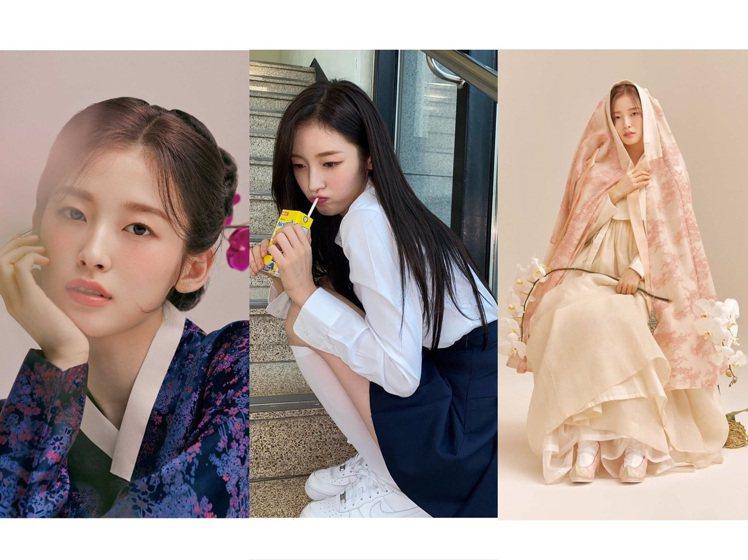 Arin的韓服穿搭獲得正面評價,現實生活中22歲的她有學生妹的俏皮可愛。圖/取自...