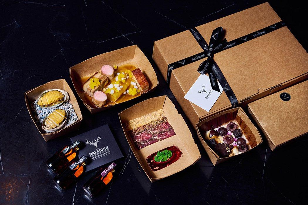 大摩星級饗食包含The Tavernist 特製雙人套餐,三款威士忌【60ml瓶...