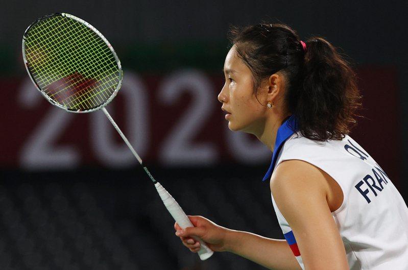 面對世界球后戴資穎,法籍華裔選手齊雪霏兩局只拿了23分,僅用25分鐘就宣布繳械,賽後她承認,她已竭盡所能 路透社