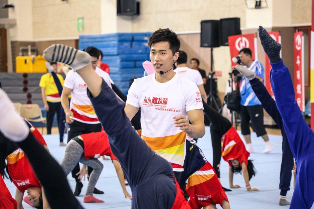 華南金融集團長期贊助體操國手李智凱,也培育優秀的體操新星。圖/華南金控提供