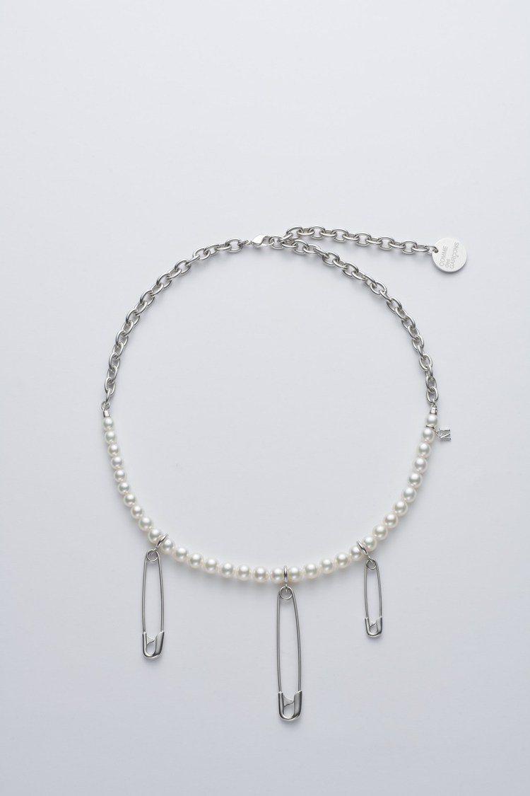 MIKIMOTO x COMME des GARÇONS聯名珍珠項鍊別針綴飾半鍊...