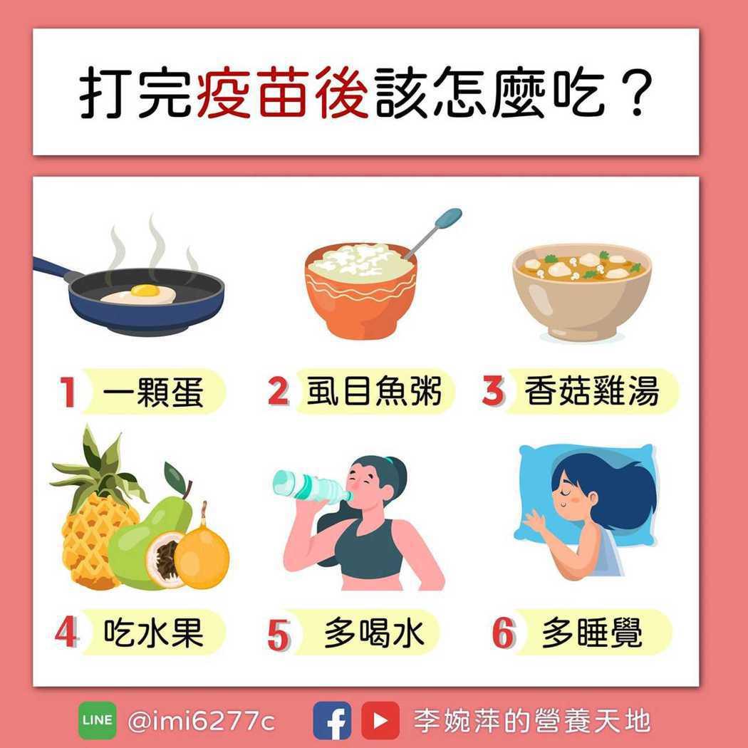 榮新診所營養師李婉萍建議,打完疫苗應該這樣吃,且這些食材大多都是現在盛產、容易取...