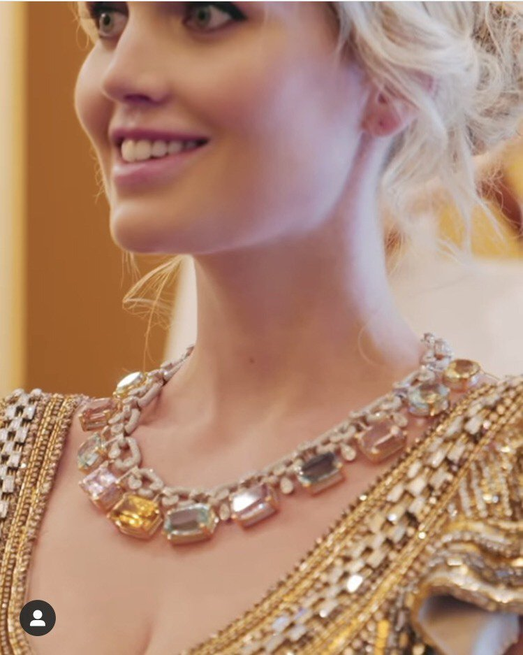 黛安娜王妃姪女凱蒂史賓塞佩戴Dolce & Gabbana珠寶搭配訂製婚...