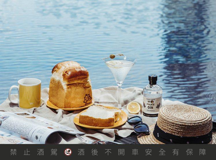 馬丁尼檸檬生吐司帶有酒香與檸檬香氣,為夏季增添清爽感。圖/日香提供