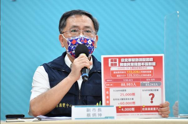 對於中央表示疫苗夠,是地方打太快的說法,北市副市長蔡炳坤表示,當一件事情是全台各...