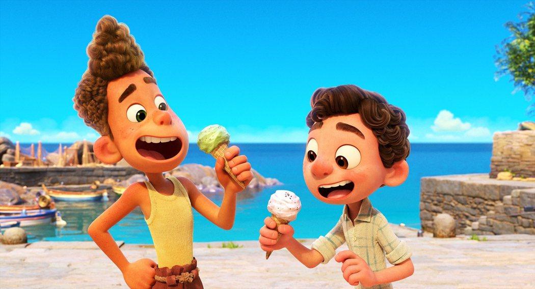 「路卡的夏天」是皮克斯最新動畫。圖/迪士尼提供