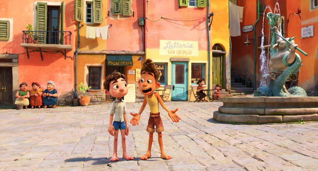 「路卡的夏天」帶領觀眾一探美麗的義大利小城。圖/迪士尼提供