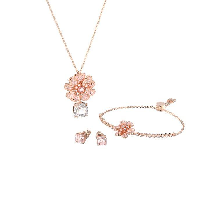 Connexus項鍊、耳環、手環套組,13,900元。圖/施華洛世奇提供