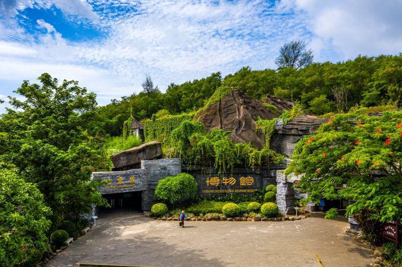 湖光岩火山博物館,地震館。圖/本報廣東湛江傳真