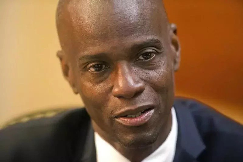 日前遇刺身亡的海地總統摩依士。美聯社