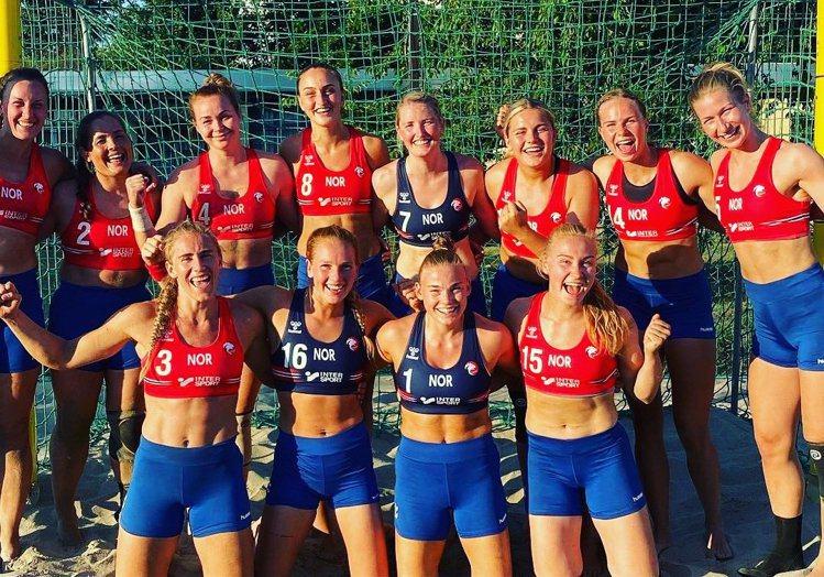 圖/擷自挪威女子沙灘手球隊推特