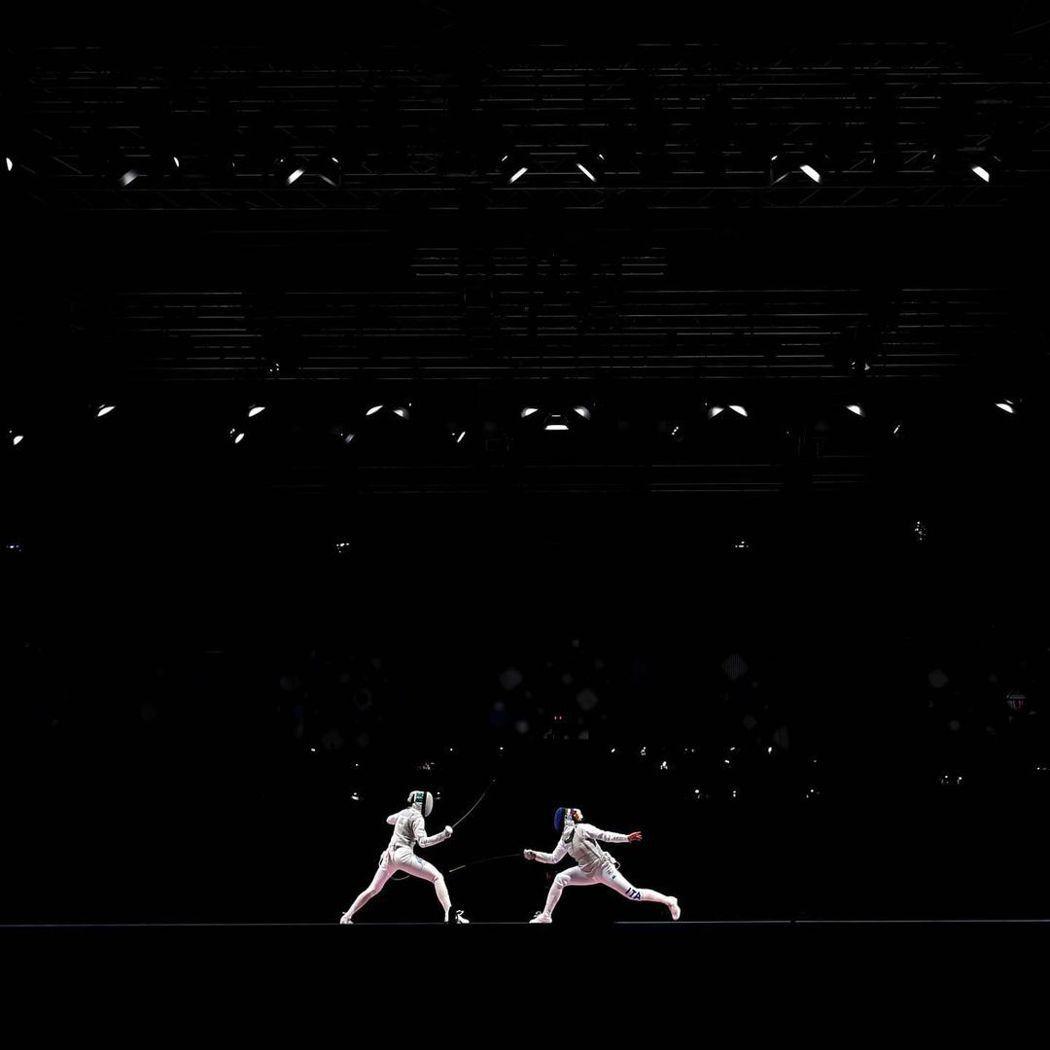 透過黑與白的對比,讓照片更有張力。圖/摘自2020東京奧運官方IG