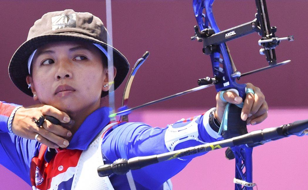 台灣射箭女將林佳恩。 路透社