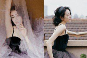 仙氣嫵媚如真人版白雪公主!迪麗熱巴「漸層紗裙」展完美曲線,加碼公開保養瘦身法