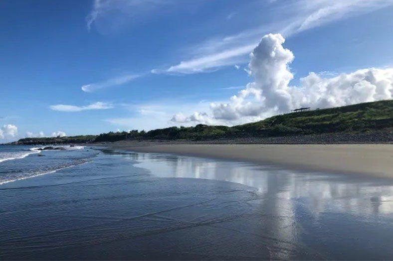 台東的沙灘。 圖/作者提供