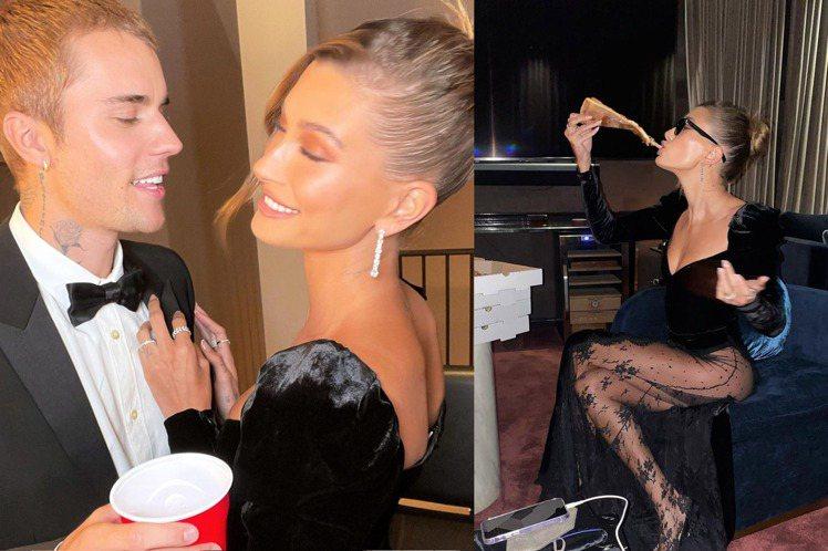 小賈斯汀與海莉比伯在家辦派對,女主人大方秀出好身材,火辣呈現美尻曲線。圖/摘自i...