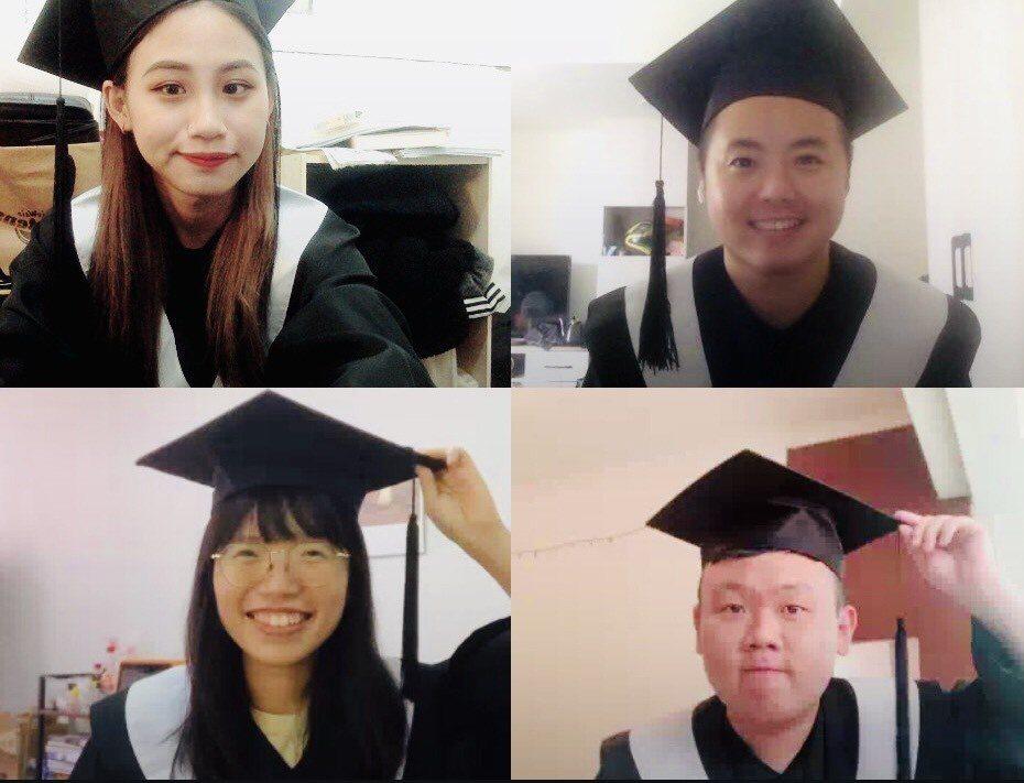 疫情中,與同學們一起失去了實體課堂與畢業典禮。圖/江婉琦提供
