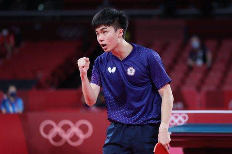 林昀儒說:「落後的時候沒有去放棄,相信自己可以贏得比賽,專注在戰術上面。」 圖/...
