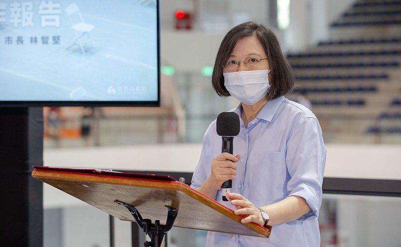 圖為蔡總統日前視察新竹市疫苗施打致詞的狀況。圖/總統府提供