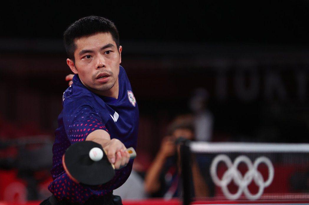今年40歲五度參與奧運的桌球國手莊智淵,最終不敵埃及選手止步於16強。路透