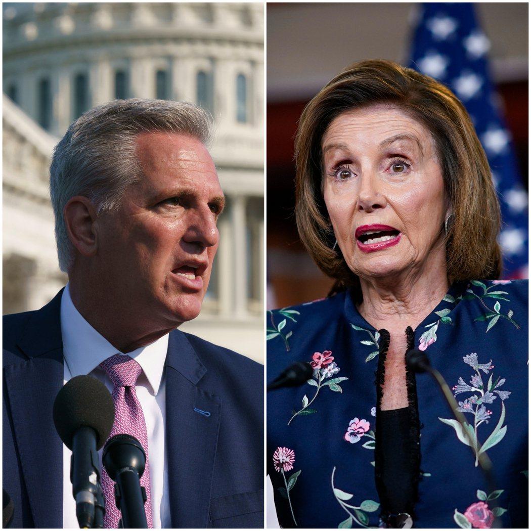在眾議院少數黨領袖麥卡錫針對國會醫生建議眾議院維持戴口罩的批評後,眾議院議長佩洛...