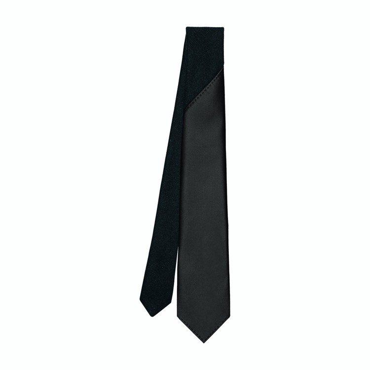 25.7公分喀什米爾羊絨與小羊皮拼接領帶,39,000元。圖/愛馬仕提供