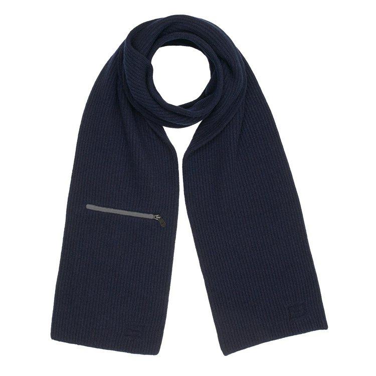 拉鍊口袋細節羊毛與喀什米爾羊絨圍巾,27,900元。圖/愛馬仕提供
