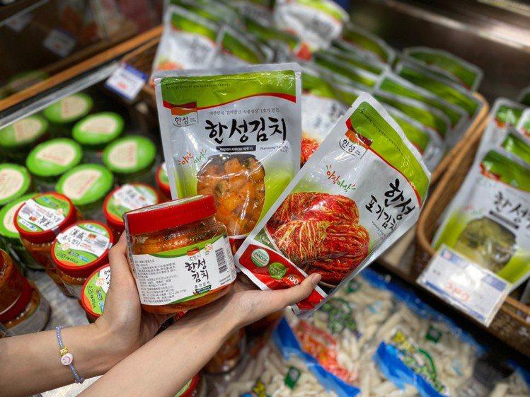 各式韓國泡菜。圖/新光三越提供
