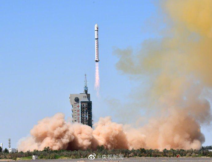 中國成功發射天繪一號04星。(取自央視新聞)