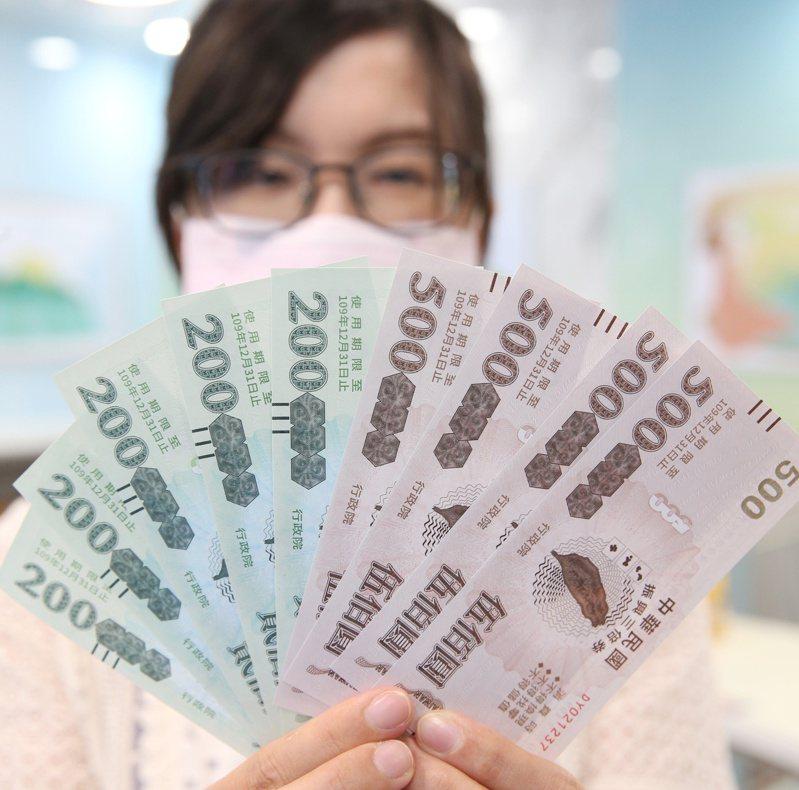 據指出,國發會也已提報二、三個版本的振興券方案,但考量預算額度,如果要超過5000元,民眾的「自付額」也得增加。圖為去年發放的振興三倍券。圖/聯合報系資料照片