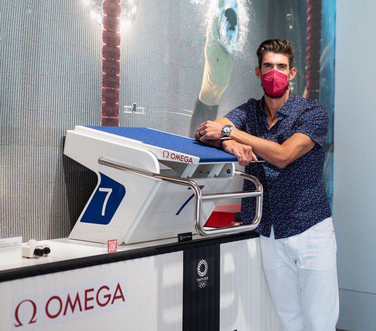 重新回到奧運現場、但非參賽選手的Michael Phelps表示,希望自己的現身...