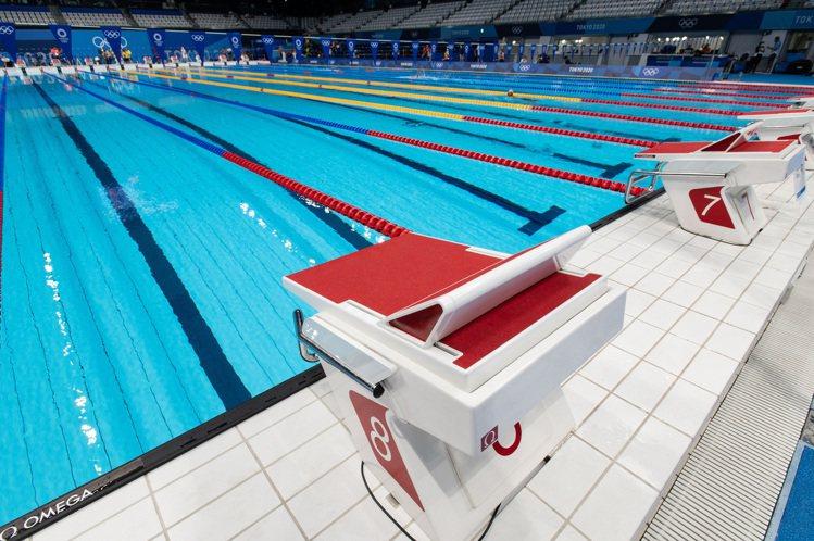 設置於泳池末端起跑器上的指示燈,可以燈號的數量,方便運動員和觀眾即時查看比賽結果...