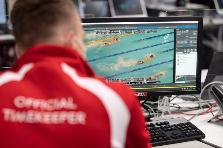由電腦提供的即時數據,將能顯示即時位置、即時速度、加速度、減速度、泳手之間的距離...