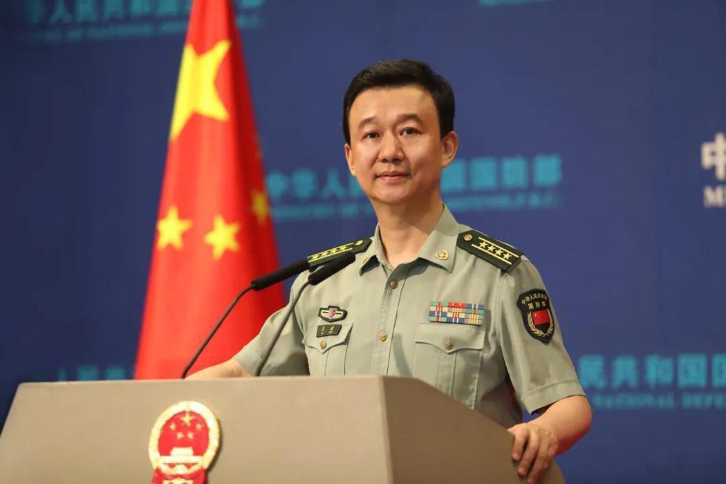 大陸國防部發言人吳謙。圖/大陸國防部微信號